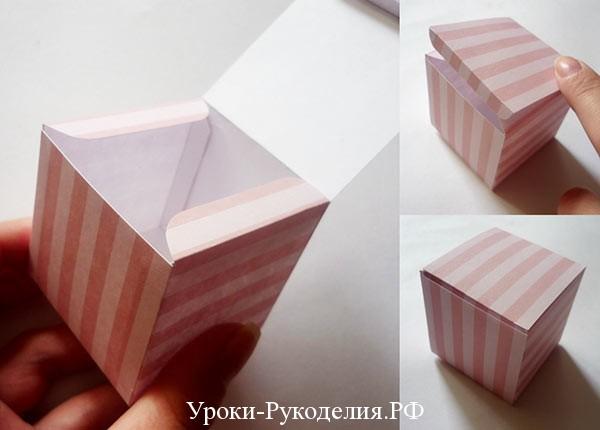 сделать бумажную коробку