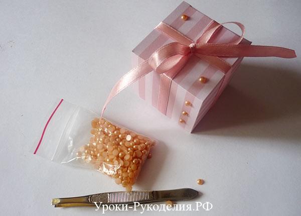 украсить коробку для подарка