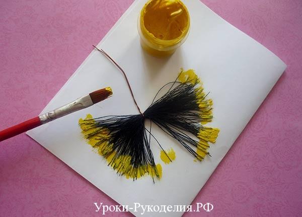 покрасить тычинки