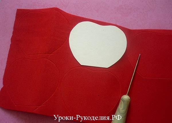 красный фоамиран