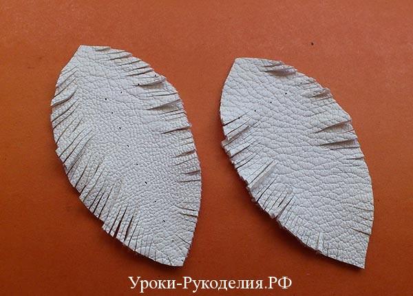 серьги листики