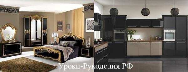чёрный дизайн мебель