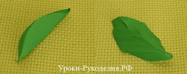 атласные листья
