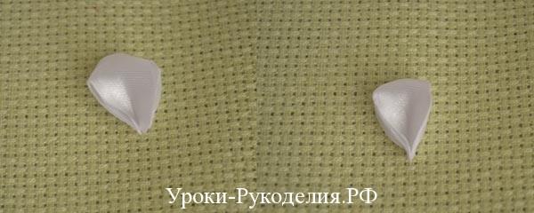 круглый лепесток канзаши