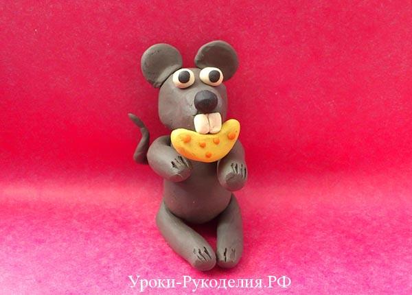 Как сделать из пластилина мышка 129