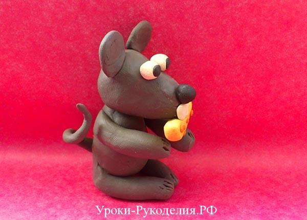 сделать мышку из пластилина