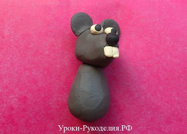 лепить мышь
