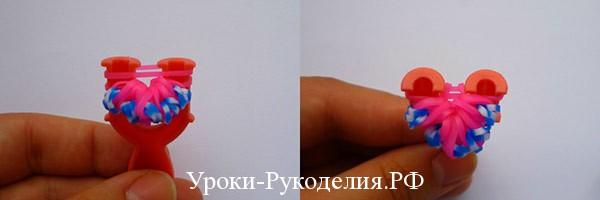 сделать кольцо из резинок