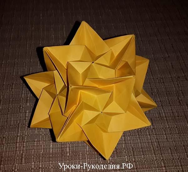 как сделать кусудами оригами