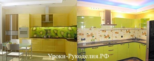оформить стену кухни