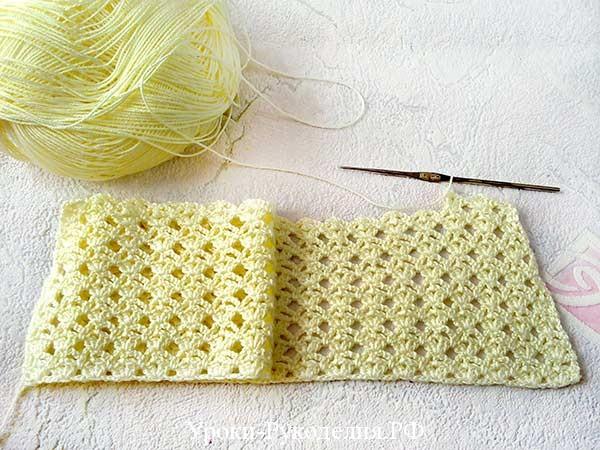 вязание крючком убавление
