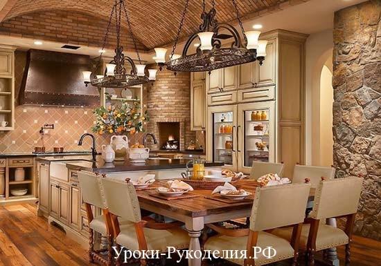 кухня обстановка