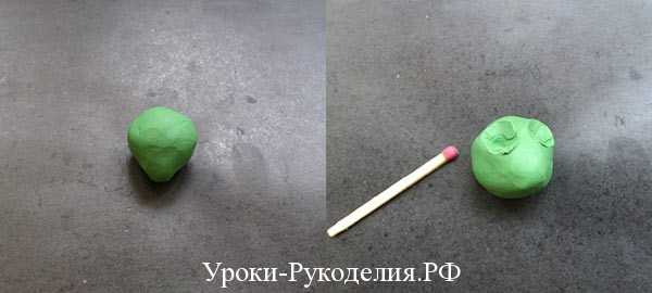 ямки в пластилине