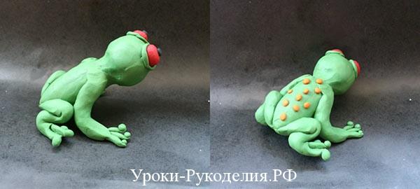 сделать лягушку