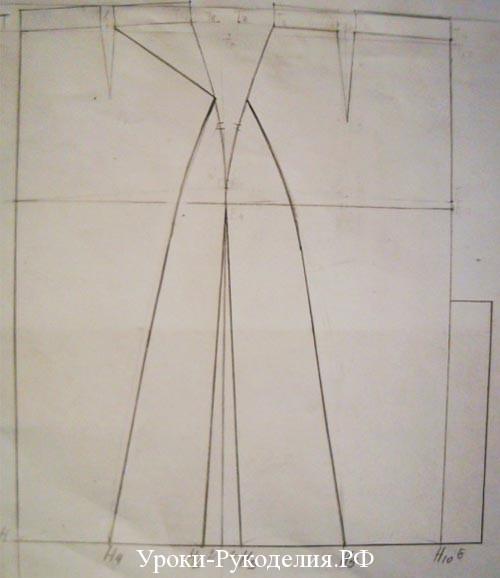 построение выкройки юбки