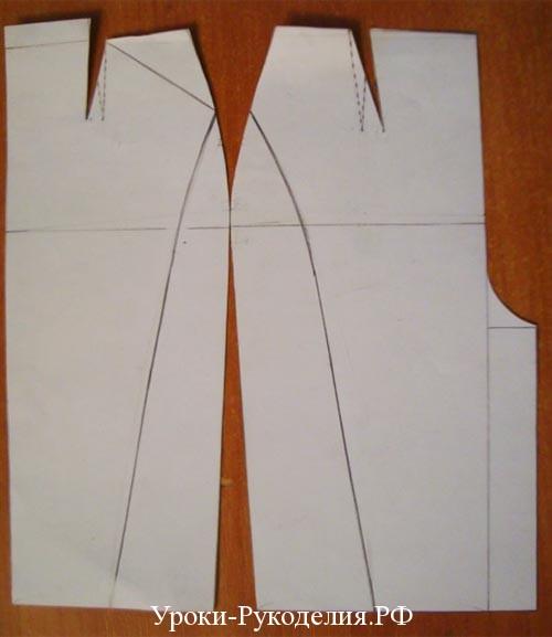 сделать выкройку прямой юбки
