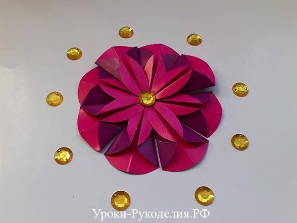 модульный цветок на подарок