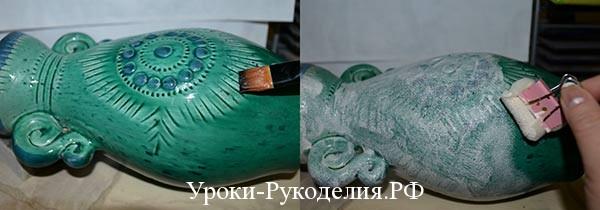 покрыть вазу краской