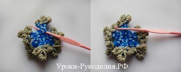 снежинка плетенная