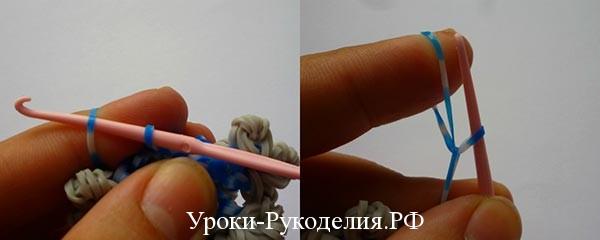 Как сделать из резинок для плетения снежинку