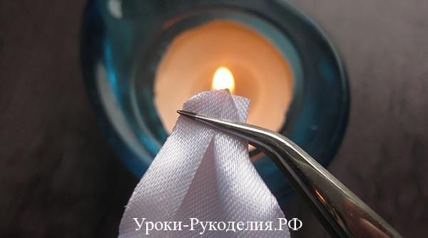 над свечой держать ленту