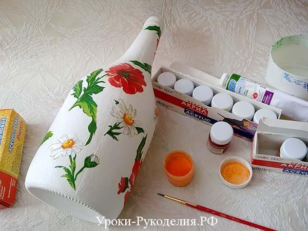 раскрасить бутылку