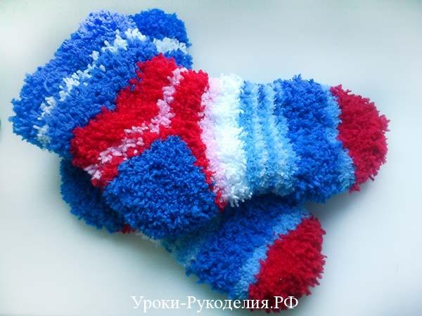 носки вязанные спицами
