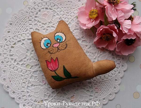 кофейный котик своими руками