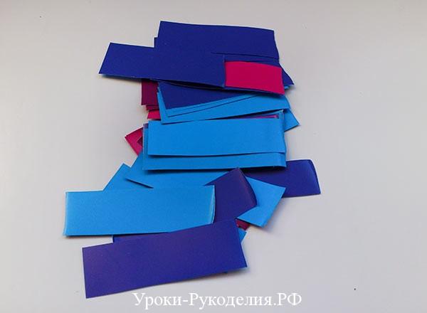 бумажное украшение на елку