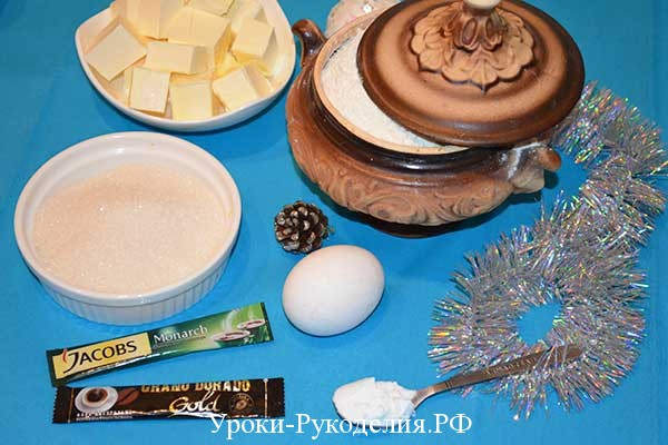 продукты для домика из теста