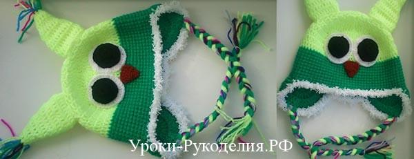 Мастер-класс по вязанию крючком шапочки-совенка