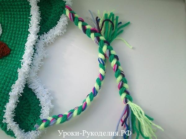 плетем косу из ниток