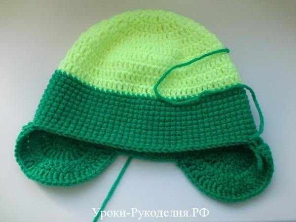 схема ушек на шапку