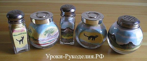 декор солью
