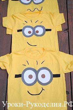 миньоны на футболках