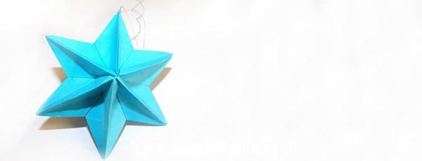 Как сделать звезду-игрушку на новогоднюю ёлку в технике оригами
