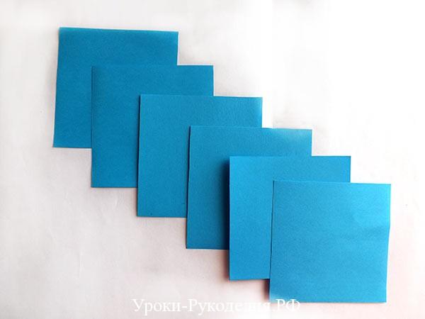 квадратики бумаги
