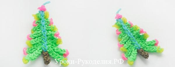 Новогодняя ёлочка из резинок Rainbow Loom