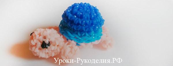 Плетение из резинок: фигурка черепашка