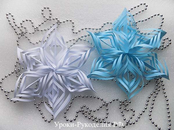 делать снежинки из бумаги