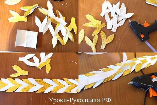 лавровый венок из бумаги