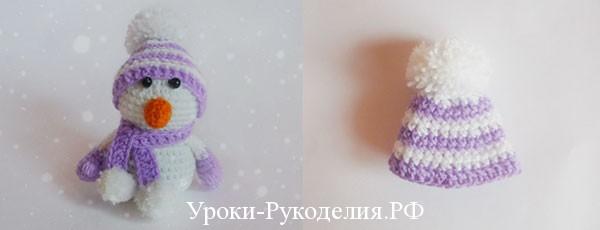 снеговик своими руками крючком