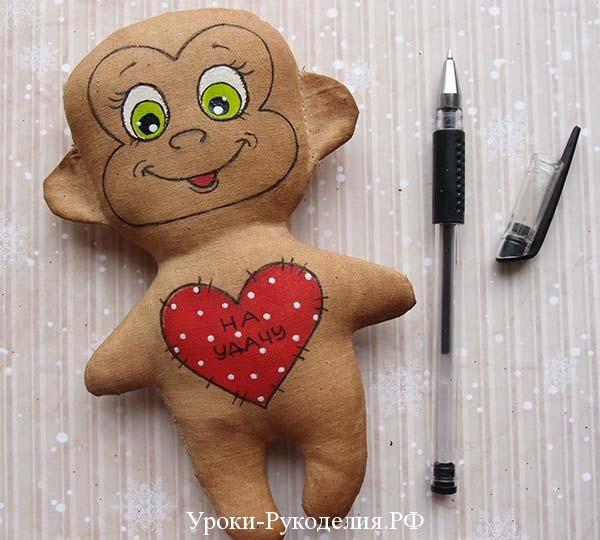обезьянка из ткани