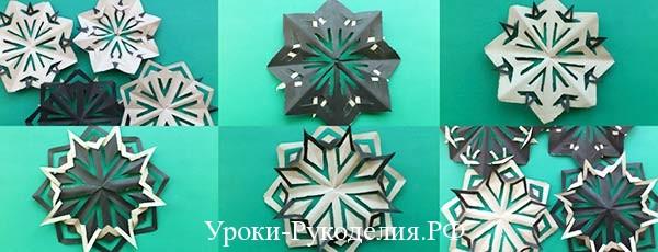 как сделать из бумаги красивые снежинки
