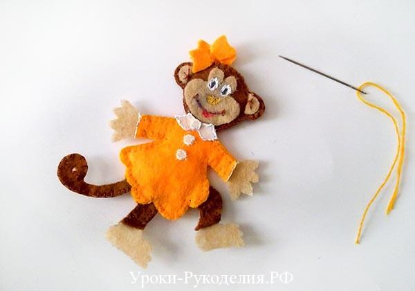обезьянка в платье