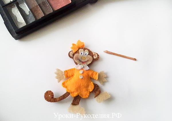 мордочка обезьяны из фетра