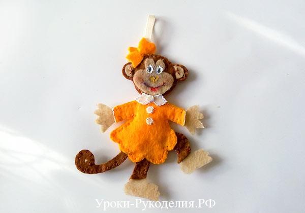поделка обезьяна из фетра
