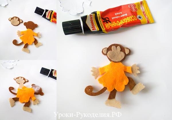 обезьянка поделка
