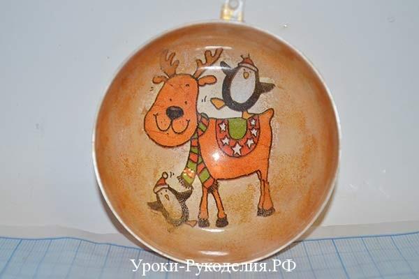игрушка с оленем на елку
