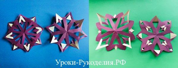 Новогоднее творчество с детьми. Вырезаем снежинки из бумаги